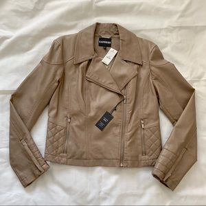 Express Faux Leather Motorcycle Jacket NWT